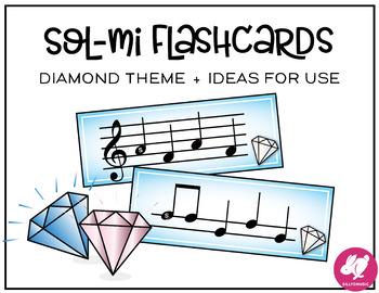 Sol-Mi Flashcards + Ideas for Games - Diamond Theme