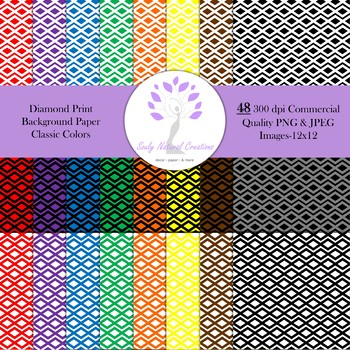 Diamond Print Background Paper Classic Colors