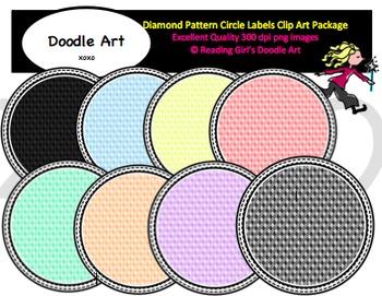Diamond Pattern Circle Labels