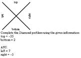 Diamond Problems - Integers Examview Test Bank