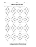 Diamond Puzzle Outline