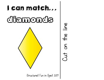 Diamond/Rhombus Adapted Book for Preschool, Pre-K and Special Needs