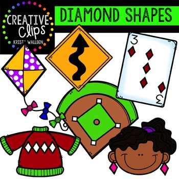 Diamond (Rhombus) Shapes {Creative Clips Digital Clipart}