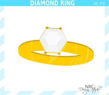 Diamond Ring Clip Art - Commercial Use Clipart