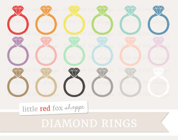 Diamond Ring Clipart; Jewelry, Wedding, Engagement