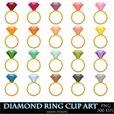 Diamond Ring Clipart Rings Clip Art Wedding Love Gemstones