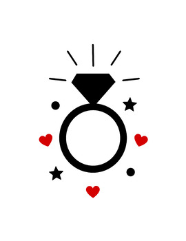 Diamond Ring SVG Cutting File - Commercial Use SVG, DXF, EPS, png