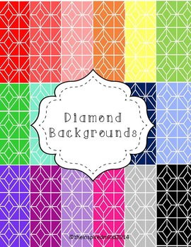 Diamond Shape Digital Paper {20 digital papers 8.5x11}