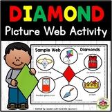 Diamond Shape Picture Web Activity for Preschool