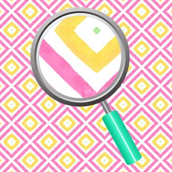 Diamond Theme Watercolor Kalidoscope Backgrounds / Digital Papers Clip Art