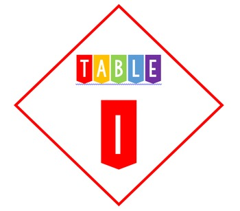 Diamond table number labels