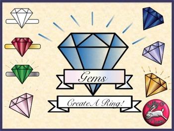 Diamonds, Gems, Jewels, & Rings Clip Art