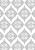 Diamonds Pattern Spring Coloring Page Printable