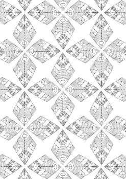 Diamonds Pattern Spring Coloring Page Printable