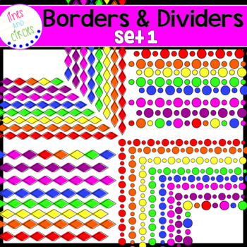 Diamonds and Circles Borders and Dividers Clipart