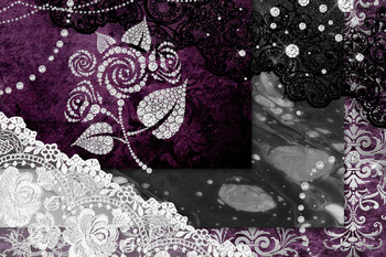 Diamonds and Lace Digital Scrapbooking Kit
