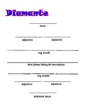 Diamonte Poem Frame;Poetry; Writing Strategies; Parts of speech;Printables