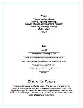 Diamonte Poetry Lesson