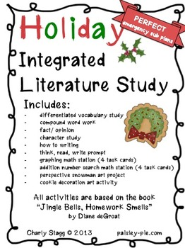 HOLIDAY:Christmas- Theme Day/Emergency Sub Plans based on books by Diane deGroat