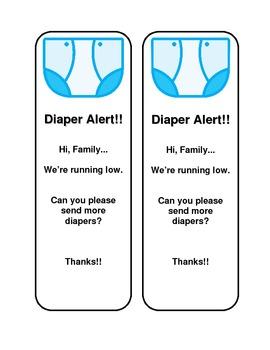 Diaper Alert! - Freebie!! - Makes your days easier  :)