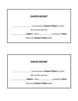 Diaper Report