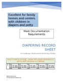 Diapering/Toilet Training Documentation Chart