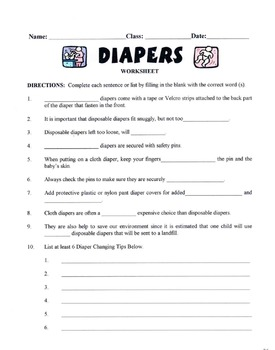 Diapers Lesson