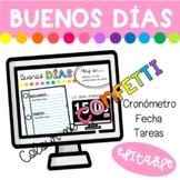 Diapositivas Buenos Días - Colour me Confetti