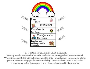 Diario 5-Management Chart in Spanish
