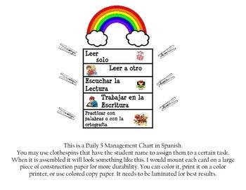 Diario 5-Management Chart in Spanish