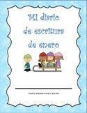 Diario de Escritura - Enero.  Spanish writing journal for January