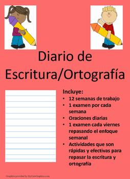 Diario de Escritura/Ortografia-Daily Writing Practice