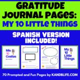 Diario de Gratitud- Mis 10 Cositas | Gratitude Journal for