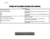 BILINGUAL:Diario de Vocabulario/Vocabulary Journal (Middle