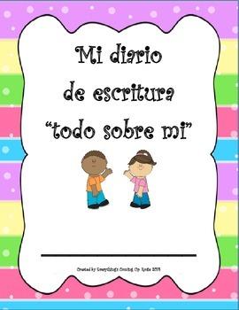 Diario de escritura - Todo sobre mi FREEBIE.  Spanish All About Me journal