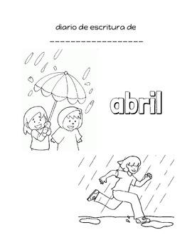 Diario de escritura de abril / April Writing Journal Spanish