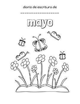 Diario de escritura de mayo/May Writing Journal in Spanish