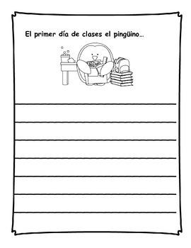 Diario de escritura - septiembre.  Spanish writing journal for September