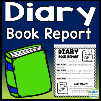Diary Book Report: Write a Diary from the Point of View of a Character