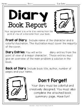 Diary book report