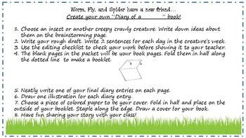 Diary Of A Worm, Spider, Fly, ____? - Writing Project