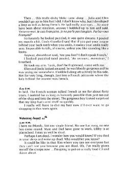 Grade 7/8 English - Diary Writing Lesson Plan