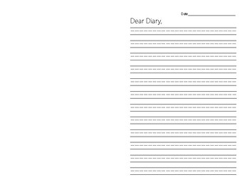 Diary Writing Template By Beth Barksdale