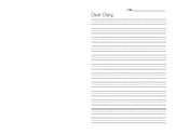 Diary Writing Template