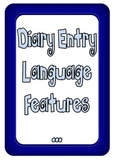 Diary entry or Personal recount structure and language feature charts