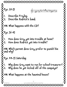 Diary of A Wimpy Kid (First Book) Discussion Questions