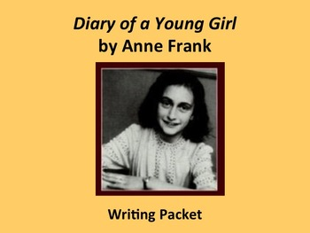 Diary of A Young Girl Writing Packet