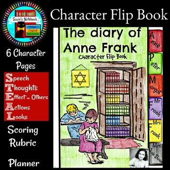 Diary of Anne Frank Character Flip Book and Growth Mindset Activity