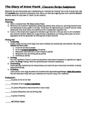 Diary of Anne Frank Character Recipe Sheet