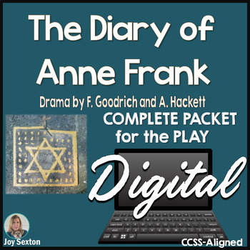 Diary of Anne Frank Play - DIGITAL Student-Ready Complete Packet for Google